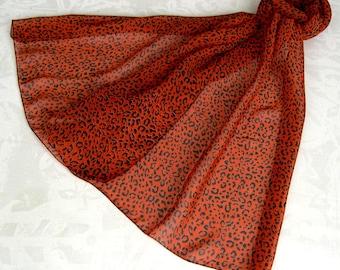 Scarf, scarf - simple classic print scarf leopard 207