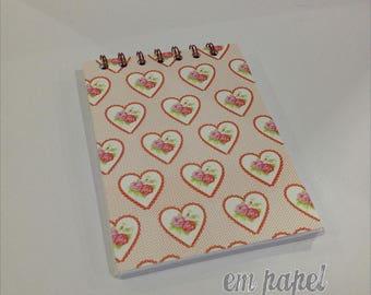 Heart A6 Notepad
