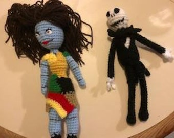 Jack & Sally Crochet Dolls