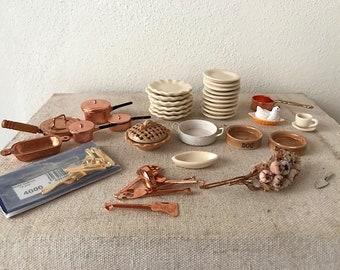 Dollhouse Miniature, Kitchen set in 1:12 scale