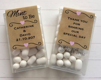PERSONALISED TIC - TACS - Mint to Be - Wedding Favors