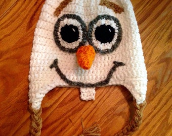 Olaf Inspired Hat - Handmade Hat - Character Hat - Costume Hat - Winter Hat - Gifts for Kids - Frozen Hat - Crochet Hat
