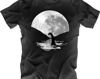 Nessie the Loch Ness Monster Moon Shirt