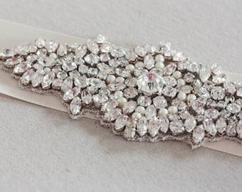 Wedding Crystal Sash-  Mini  (Made to order)