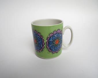 Vintage Villeroy and Boch mug, flowery mug, vintage mug