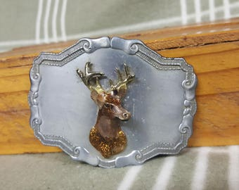 Vintage 3D Deer Belt Buckle. Cool. Buck.
