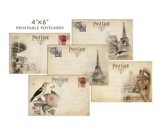 Diy Postcard Paris X Postcards Travel Postcard Template - 6x4 postcard template