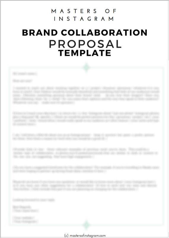 Email Template Instagram Collaboration Proposal Travel