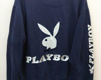PLAYBOY Sweatshirt// Biggest Logo Spellout//Size XL