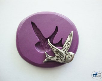 Bird Mold - Flying Swallow Mold - Silicone Molds - Polymer Clay Resin Fondant