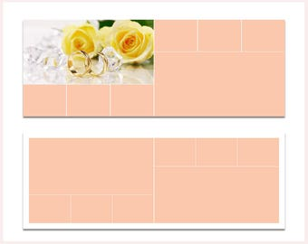 Collage Facebook Cover Template for Photographers, Facebook Timeline Cover Template for Photoshop, Facebook Cover Photo, Facebook Banner