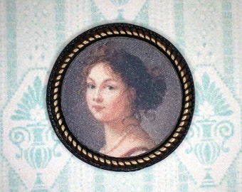 Miniature 1:12 Dollhouse Painting - Élisabeth Vigée-Lebrun - Louise, Queen of Prussia