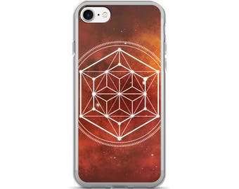iPhone 7/7 Plus Case - Sacred Geometry Orange 1 Phone Case