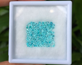1.02ct.- Paraiba calibrated (38pcs./1.7mm) from Brazil. Perfect for jewelry makers and designers.