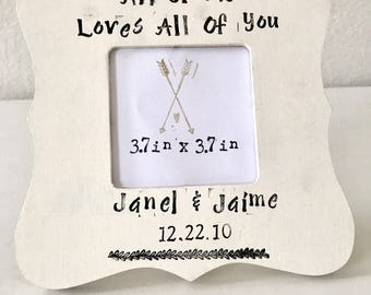Personalized Wedding Picture Frame Custom Wedding Gift Anniversary Gift Wedding Date