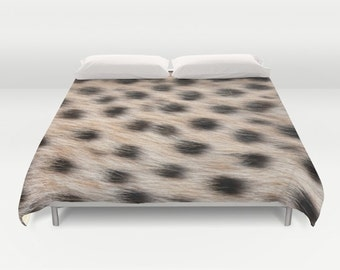 Cheetah Animal Print Duvet Cover, Made to Order, Cheetah Print Decorative Bedding, Dorm bedding, Bedroom, Safari Decor,Nature Duvet Cover