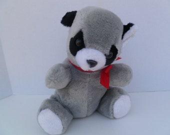"""American Wego Raccoon  Plush Toy 10"""" 1982"""