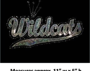 CLOSEOUT Wildcats Sequins and Rhinestone Transfer Applique ONLY