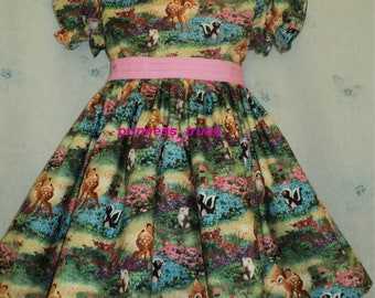 NEW Handmade Disney Bambi Scenic Dress Deluxe Custom Size