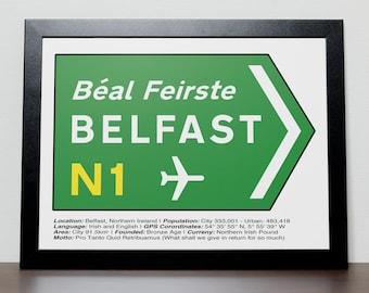 Irish Road signs - BELFAST