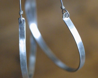 Bohemian Silver Hoop Earrings - Sterling Silver Hoops - Vintage Style Hoop Earrings