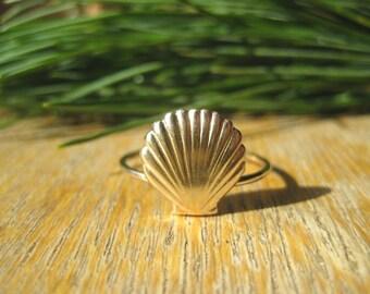 14k Gold Filled Mermaid Sea Shell Ring