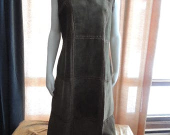 Leather patchwork dress