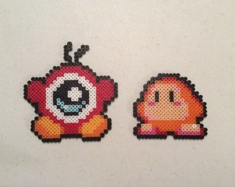 2 Pixel Art Figures inspired by the Kirby games: Waddle Doo and Waddle Dee