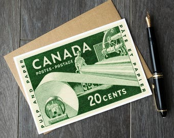 canada industry retirement cards, vintage canadian birthday cards, antique canadian christmas cards, canada thank you cards, vintage canada