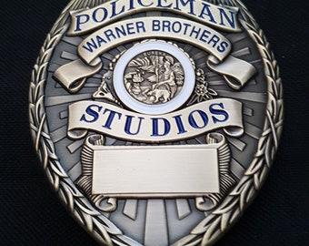 Warner Studios Policeman Badge