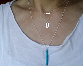 SALE Razor Necklace. Sterling Silver Razor Pendant. Layering Necklace. Trendy Cool Modern