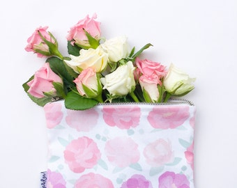Pink Peony Pouch