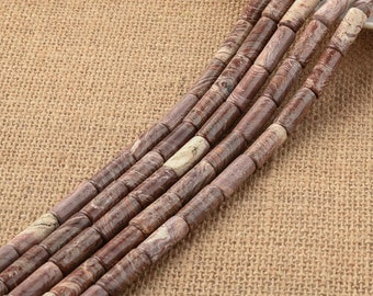 One Strand 8*20MM Natural Colored Stone Cylinder Beads