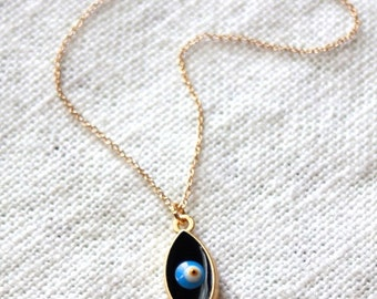 Evil Eye Necklace - Gold Plated Murano Glass