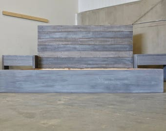 The Michelle Grey Weathered Reclaimed wood Bed Frame