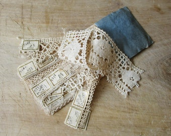 Antique french lace crochet sample book, 1800s, Vintage pattern-book, Embroidery, Marquoir, France, Broderie Crochet