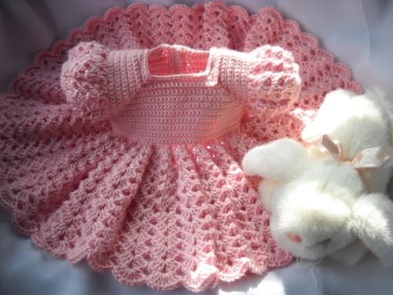 Rosa Prinzessin häkeln Baby Kleid Kind 3 bis 6 Monate