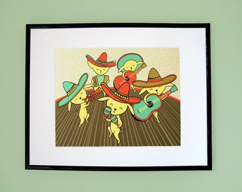 Chihuahua Mariachi Band Giclee Print