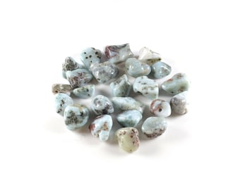 Nugget beads 10 / Larimar natural nugget approximately 8-12mm x 5-7mm x 4 to 8mm LBP00609
