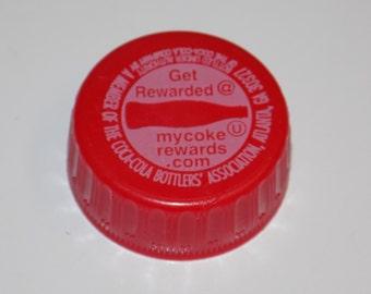 Red Plastic Coca Cola Bottle Caps