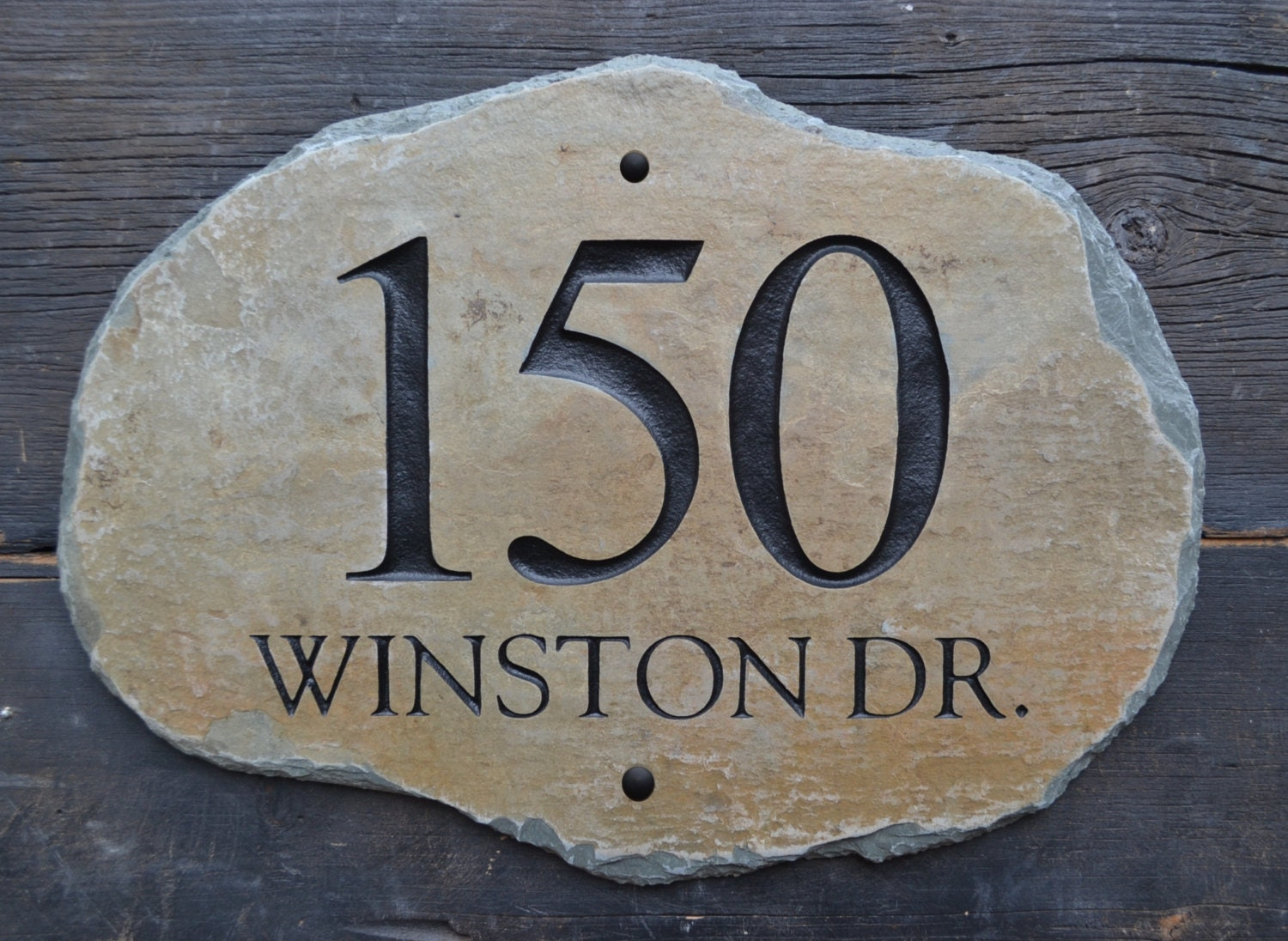 ADDRESS STONE HOME Numbers Slate/ Plaque / House Marker Sign