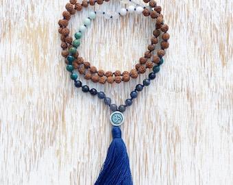 Om Necklace, Mala Necklace, Mala Beads, Mala Beads Necklace, Rudraksha Mala, Mala Beads 108, 108 Mala Beads, Buddhist Jewelry, Yoga Necklace