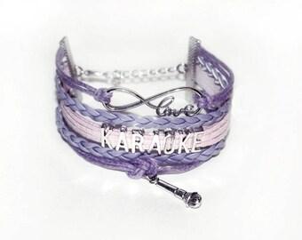 Karaoke Bracelet | Singer Gift | Karaoke Jewelry | Singer Bracelet | Karaoke Gift | Karaoke Party Gift | Musician Gift | Karaoke Jewelry