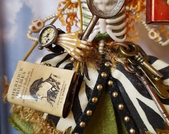 Steampunk Day of the Dead Detective Ornament or Diorama