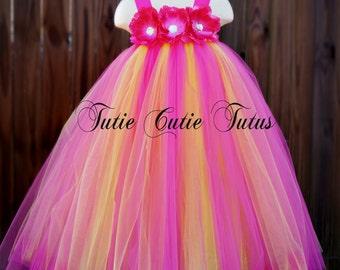 Bégonia et Sunbeam Flower Girl robe Tutu inspiré