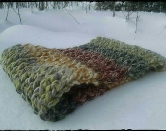 Winter Skies - Cowl, knit cowl, outdoors, scarf