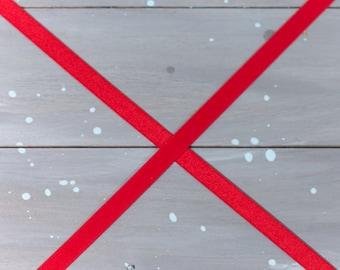 """5 Yards Red 1/2"""" Satin Plush Back Bra Strap Elastic Bra Making Bramaking Supplies Lingerie Sewing Latex Free Factory Dyed"""