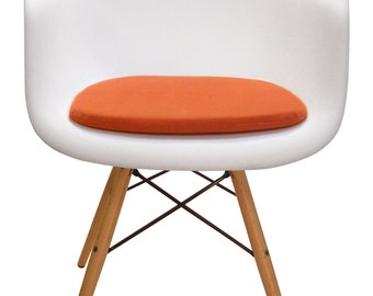 Custom Cushion for Eames Molded Plastic Arm Chair - Miracle Fabric
