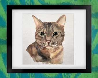 Lucy Cat Watercolor Art Print