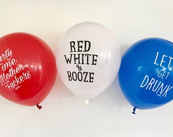 Fourth of July packs (3 balloons)